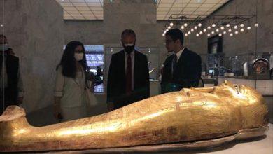 Photo of سفراء أجانب ووفد أمريكي يزورون متحف الحضارة بالفسطاط